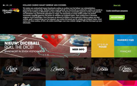 Screenshot of Home Page hollandcasino.nl - Home - Holland Casino - captured June 15, 2018