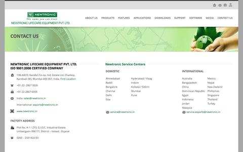 Screenshot of Contact Page newtronic.in - Welcome to the Newtronic Lifecare Equipment Pvt.Ltd, Manufacturer and Exporter of Humidity Chambers, Humidity Chambers Manufacturers, Walk-In Humidity Chambers, Photostability Chambers, Freeze Thaw Chambers, Cooling Chambers, Walk-In Cooling Chambers - captured Oct. 6, 2014