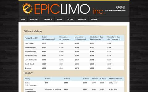 Screenshot of Pricing Page epiclimoinc.com - Pricing   Epiclimo, Inc. - captured Sept. 30, 2014