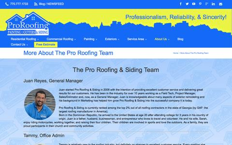 Screenshot of Team Page myproroofing.com - Pro Roofing & Siding Team Profiles | - captured Nov. 12, 2016