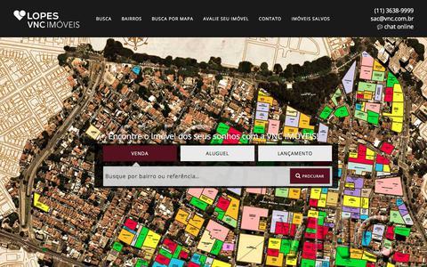 Screenshot of Home Page vnc.com.br - VNC Imóveis - captured Oct. 21, 2017