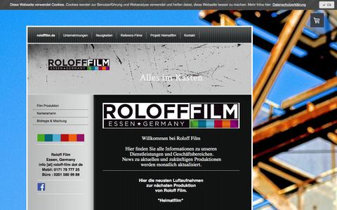 Screenshot of Home Page rolofffilm.de - Roloff Film - rolofffilm.de - captured June 15, 2017