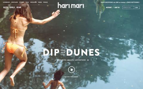 Screenshot of Home Page harimari.com - Hari Mari — Dunes are here! - captured July 19, 2015