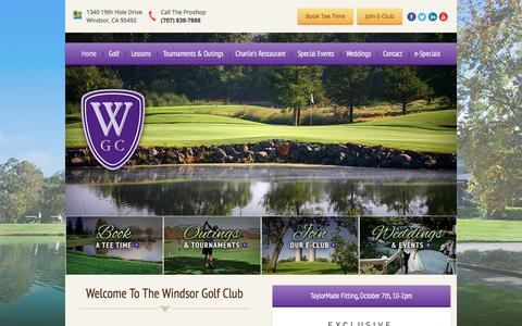 Screenshot of Home Page windsorgolf.com - Windsor Golf Club - Windsor, CA - captured Nov. 6, 2017