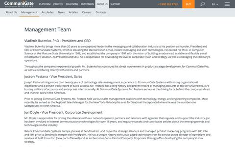 Screenshot of Team Page communigate.com - CommuniGate Pro - captured July 20, 2019
