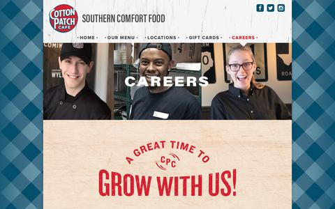 Screenshot of Jobs Page cottonpatch.com - Careers – Cotton Patch Cafe - captured June 23, 2017