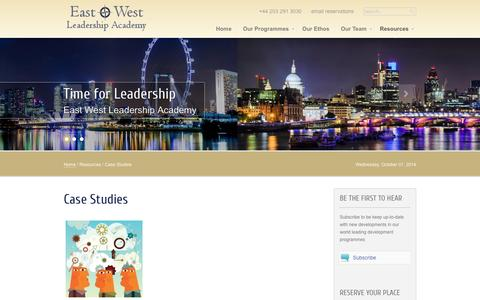 Screenshot of Case Studies Page ewlacademy.com - Case Studies - captured Oct. 1, 2014