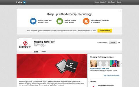 Screenshot of LinkedIn Page linkedin.com - Microchip Technology | LinkedIn - captured Nov. 17, 2015