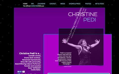 Screenshot of Home Page christinepedi.com - Christinepedi.com - captured Oct. 19, 2015
