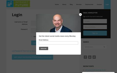 Screenshot of Login Page intranetfuture.com - Login - Intranet Future - Social Media Agency - captured Dec. 13, 2017