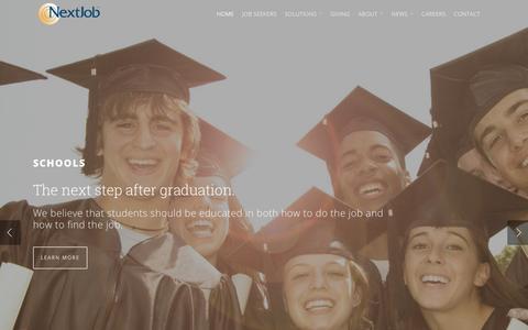 Screenshot of Home Page nextjob.com - NextJob - captured Feb. 24, 2016