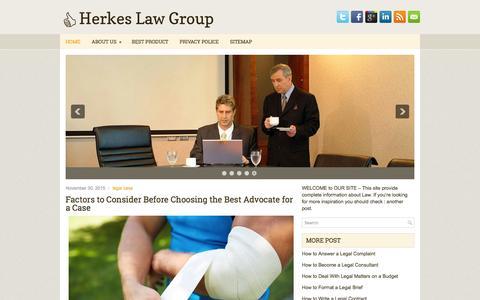 Screenshot of Home Page herkesburda.org - Herkes Law Group - captured March 3, 2016
