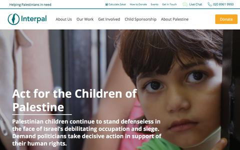 Screenshot of Home Page interpal.org - Interpal – Helping Palestinians in Need - captured Sept. 19, 2018