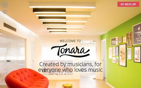 Screenshot of About Page tonara.com - The Company - meet the team behind Wolfie and Tonara apps - captured May 18, 2017