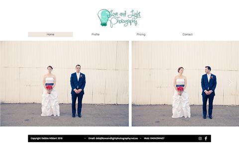 Screenshot of Home Page loveandlightphotography.net.au - weddingphotography - captured July 23, 2018