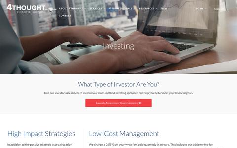 Screenshot of Services Page 4tfg.com - Investing Services - captured Dec. 19, 2016