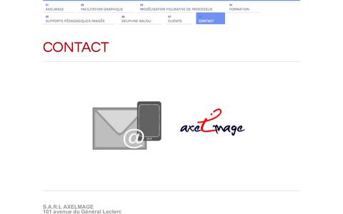 Screenshot of Contact Page axelmage.com - AXELMAGE contact - captured Sept. 30, 2014