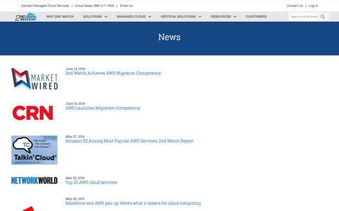 Screenshot of Press Page 2ndwatch.com - News Â« 2nd Watch - captured July 3, 2016