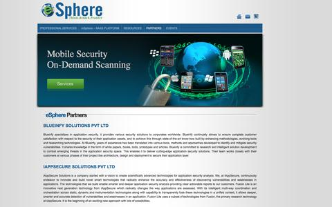 Screenshot of About Page espheresecurity.com - Welcome to eSphere Security - captured Feb. 2, 2016