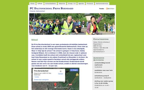 Screenshot of About Page wordpress.com - School | PC Daltonschool Prins Bernhard - captured May 28, 2016