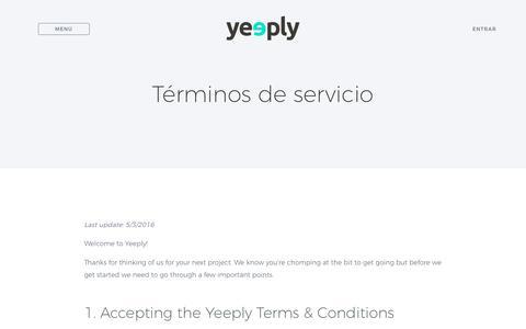 Términos generales | Yeeply