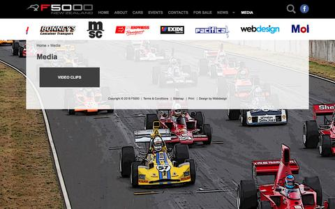 Screenshot of Press Page f5000.co.nz - Media - F5000 - New Zealand Formula 5000 Official Website - F5000 Cars, Drivers, History, News, Events, Results, Contacts and Sponsors - captured July 3, 2018