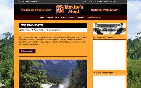 Screenshot of Blog birdiesnestonline.com - Blog - Birdie's Nest Online Store - captured Feb. 7, 2016