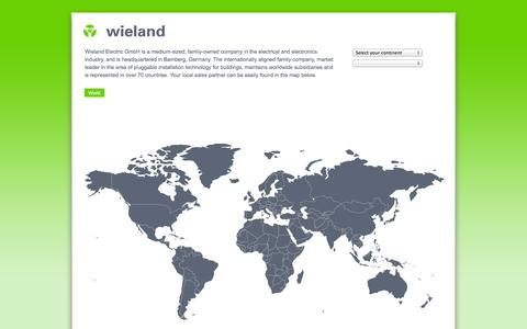 Screenshot of Home Page wieland-electric.com - Wieland Electric - captured Sept. 24, 2014