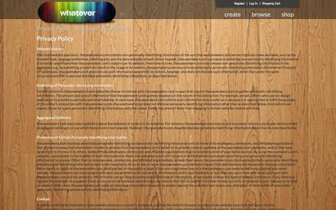 Screenshot of Privacy Page whateverskateboards.com - Privacy Policy - Whatever Skateboards - captured Oct. 29, 2014