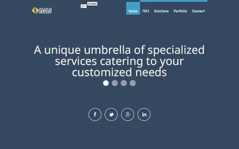 Screenshot of Home Page najlabs.com - :: najlabs.com :: Naima Al Jabri Trading :: - captured Oct. 6, 2014