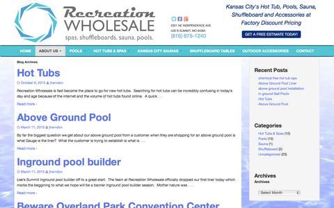 Screenshot of Blog recreationwholesale.com - Uncategorized Archives - Recreation Wholesale Pools - captured Dec. 3, 2016