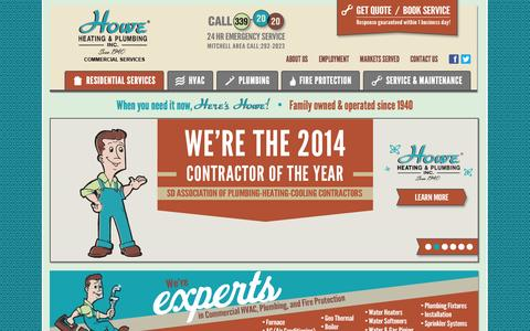 Screenshot of Home Page howeinc.com - Home - Howe Commercial - captured Oct. 3, 2014