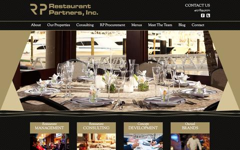 Screenshot of Home Page restaurantpartnersinc.com - Restaurant Partners INC - captured Jan. 11, 2016