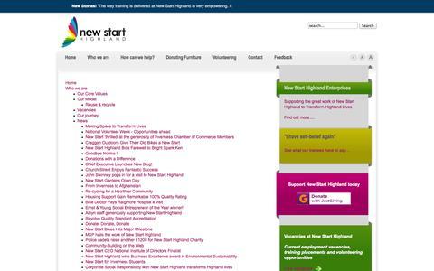 Screenshot of Site Map Page newstarthighland.org - New Start Highland - captured Oct. 7, 2014
