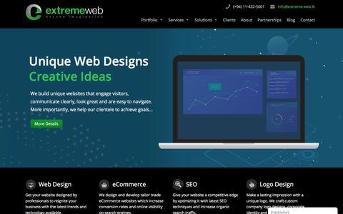 Screenshot of Home Page extremewebdesigners.com - Web Design Sri Lanka - Professional Web Design Company Sri Lanka - captured July 13, 2019