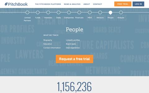 Screenshot of Team Page pitchbook.com - People in M&A, Private Equity and Venture Capital | Network with PE and VC Partners - captured April 8, 2016