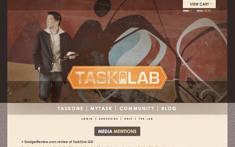 Screenshot of Press Page thetasklab.com - Media Mentions | Tasklab - captured Nov. 5, 2014