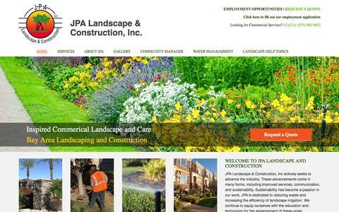 Screenshot of Home Page jpalandscape.com - Home - JPA Landscape & Construction, Inc - captured Feb. 4, 2016