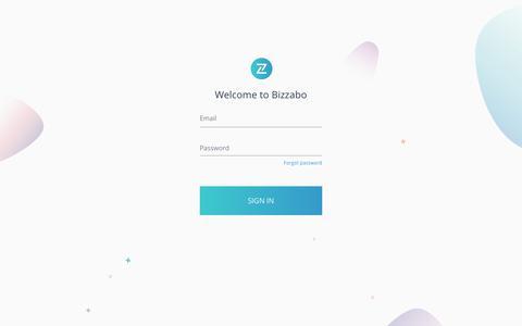 Screenshot of Login Page bizzabo.com captured Nov. 14, 2019