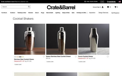 Cocktail Shakers   Crate and Barrel