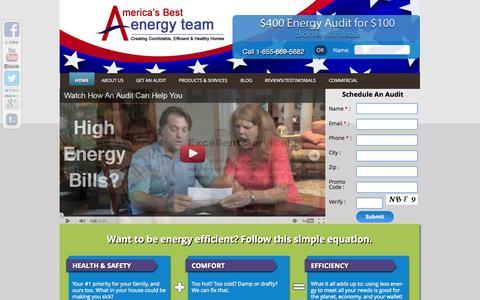 Screenshot of Home Page homeenergyefficiencyaudit.com - America's Best Energy Team|Home Energy Efficiency Auditors MD|Home Energy Audit - captured Sept. 19, 2014
