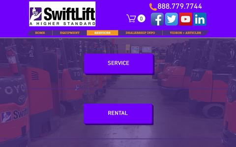 Screenshot of Services Page swiftlift.com - SwiftLift | Services - captured Oct. 24, 2017