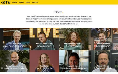 Screenshot of Team Page idtv.nl - team | IDTV - captured Oct. 1, 2018