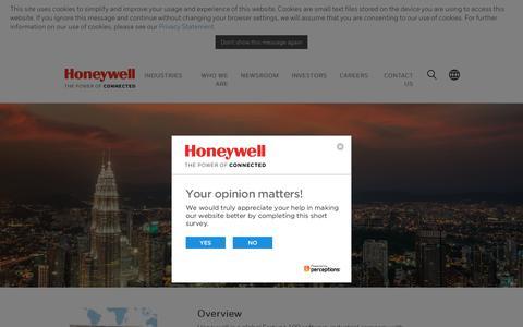 Screenshot of honeywell.com - Honeywell Malaysia| Worldwide - captured Dec. 22, 2017