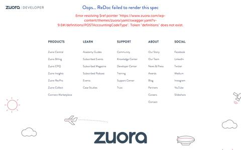 API Reference - Developer Center - Zuora