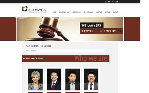 Screenshot of Team Page lawyersforemployers.com.au - Meet the team – NB Lawyers - captured Sept. 24, 2014