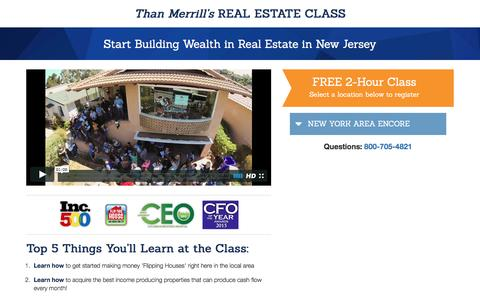 Screenshot of Landing Page fortunebuilders.com - Than Merrill's Real Estate Class - captured Dec. 29, 2016