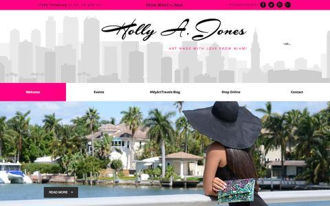 Screenshot of Home Page hollyajones.com - Holly Jones Artist | FINE ART BY: Holly A. Jones | Miami, Florida - captured Oct. 13, 2017