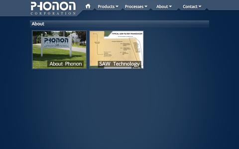 Screenshot of About Page phonon.com - Phonon Corp. - About - captured Oct. 2, 2014