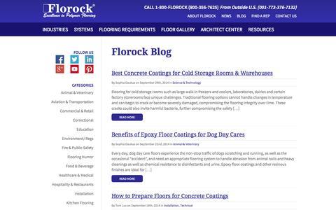 Screenshot of Blog florock.net - Florock Polymer Flooring Blog | Industrial Flooring News & Resources - captured Oct. 6, 2014